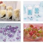 Idées de centre de table avec bougies flottantes