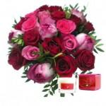 Promo Saint Valentin: -10% Mini bougie et Bouquet de roses chez Au Nom de la Rose