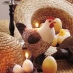 Bougies décoratives pour Pâques