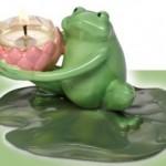 Portes-bougies Partylite pour l'été : les grenouilles Rainette !