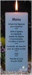 bougie-menu-mariage