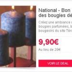 Bon d'achat à valoir sur des bougies décoratives TENDAL