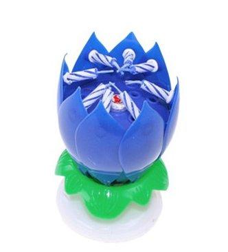 bougie-fleur-musicale-bleue