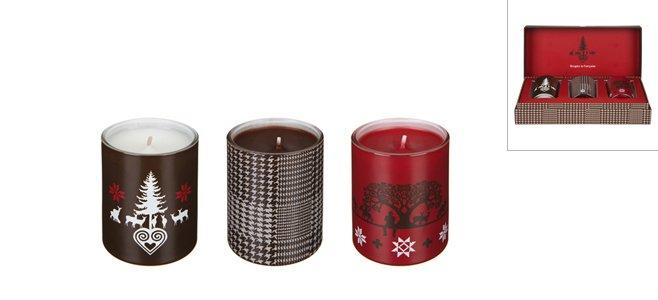 Bougies parfums vin chaud + feu de bois + lait chaud miel