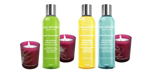 Bougies et huiles SPA cinq mondes