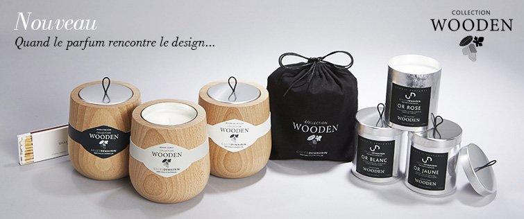 bougie wooden gilles dewavrin