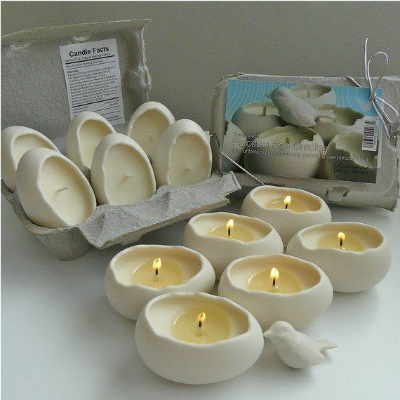 Bougies originales : et si vous offriez des bougies en forme d'oeuf ?