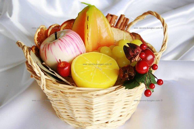 Bougies parfumées en forme de fruits